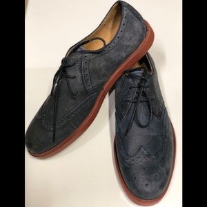 Polo Ralph Lauren Men's Blue Wingtip Oxford Dress